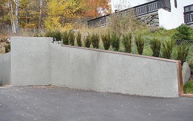 Støttemur betong pris